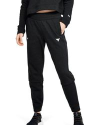 Under Armour Project Rock Terry Sweatpants - Black
