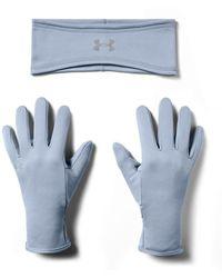 Under Armour Run Band & Glove Pack - Blue