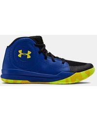 Under Armour Grade School Ua Jet 2019 Basketball Shoes - Blue