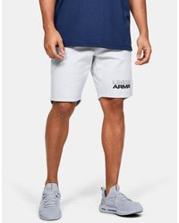 Under Armour Herren UA Baseline Fleece-Shorts Grau LG