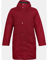 Under Armour Ua Armor Insulated Bench Coat - Red
