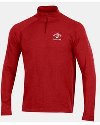 Under Armour Charged Cotton® Collegiate 1⁄4 Zip - Red