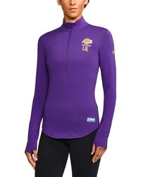 Under Armour - Women's Nba Combine Authentic Charged Cotton® 1/2 Zip - Lyst