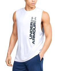 Under Armour Ua Velocity Graphic Muscle - White
