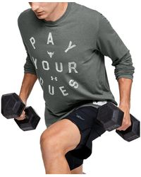 Under Armour Project Rock Pay Your Dues Tee Grey - Gray