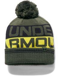 Under Armour - Men's Ua Retro Pom 2.0 Beanie - Lyst