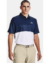 Under Armour Polo UA Playoff 2.0 Blocked para hombre - Azul