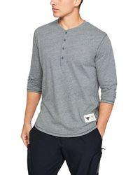 Under Armour Project Rock 3⁄4 Henley - Gray