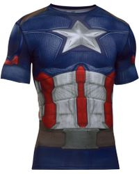 Under Armour - Men's ® Alter Ego Captain America Compression Shirt - Lyst