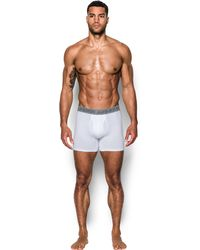 """Under Armour - Men's Charged Cotton® Stretch 6"""" Boxerjock® 3-pack - Lyst"""
