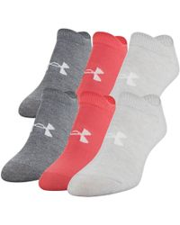 Under Armour - Essentials No Show - 6-pack - Lyst