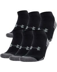 Under Armour - Men's Ua Resistor Iii Lo Cut Socks 6-pack - Lyst