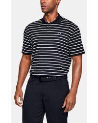 Under Armour Performance Golf Polo Shirt 2.0 Divot Stripe - Black