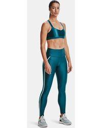 Under Armour Leggings HeatGear® Armour Shine Mesh para mujer - Azul
