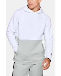 Under Armour Ua Recover Fleece Graphic Hoodie - White