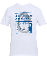Under Armour - Men's Ua Captain America Overlay T-shirt - Lyst