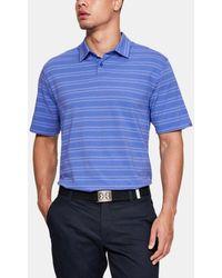 Under Armour Herren Poloshirt Charged Cotton® Scramble Stripe - Blau