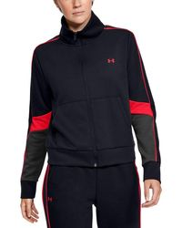 Under Armour UA Unstoppable Knit Crew MD Purple Sorbet