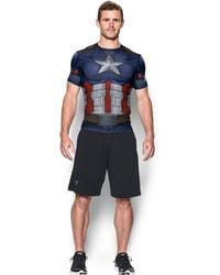 Under Armour - Men's ® Alter Ego Captain America Compression Shirt - Lyst