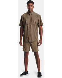"Under Armour Ua Fish Hunter 8"" Cargo Shorts - Brown"