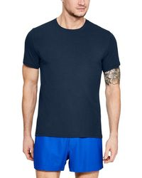 Under Armour Charged Cotton Crew Undershirt - Blue