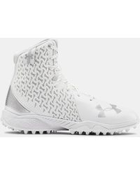 Under Armour Women's Ua Highlight Turf Lacrosse Cleats - White