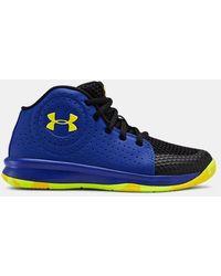 Under Armour Pre-school Ua Jet 2019 Basketball Shoes - Blue