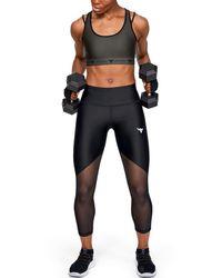 Under Armour Project Rock Heatgear® Armor Mesh Ankle Crop - Black
