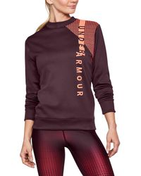 Under Armour - Women's Armour® Fleece Crew- Exploded Wordmark - Lyst
