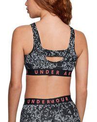 Under Armour Favorite Cotton Everyday Heather Sports Bra - Black