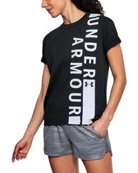 Under Armour Girlfriend Wordmark Crew - Black