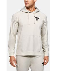 Under Armour Men's Project Rock Terry Hoodie - White