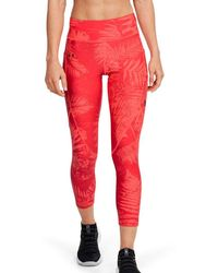 Under Armour Project Rock Heatgear® Armor Printed Ankle Crop - Red