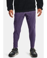 Under Armour Ua Unstoppable Tapered Trousers - Purple