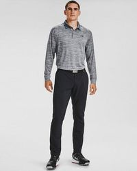 Under Armour Men's Ua Performance Textured Long Sleeve Polo - Grey