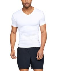 0d686f1d2866 Under Armour Heatgear Armour Short Sleeve Compression T-shirt in Blue for  Men - Lyst
