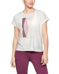 Under Armour Graphic Entwined Fashion Crew - White