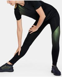 Under Armour Women's Ua Rush Short Sleeve Hex Ombre Graphic - Black