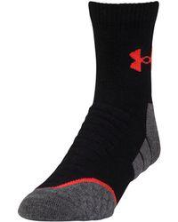 Under Armour Men's Ua All Season Wool Mid Crew Socks - Black