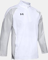 Under Armour Men's Ua Squad Coach's Long Sleeve 1⁄4 Zip - White