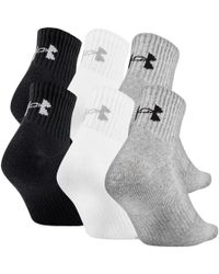 Under Armour Charged Cotton 2.0 Quarter - 6-pack - Gray