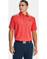 Under Armour Polo UA Playoff 2.0 para hombre - Rojo