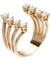 Delfina Delettrez Ring 'Dots' mit Diamanten 18K Rotgold - Mettallic