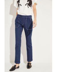 Chloé - Jeans mit Ziernähten Ultramarine - Lyst