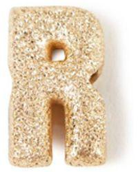 Carolina Bucci Anhänger 'Sparkly Letter R' 18K Gelbgold - Mettallic