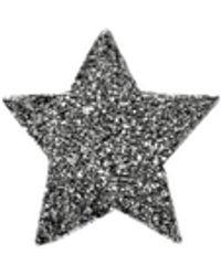 Carolina Bucci Sternenförmiger Ohrstecker 'Superstellar' 18 Karat Schwarzgold - Mettallic