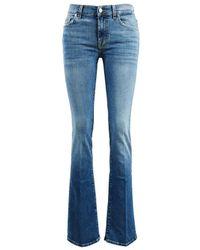 7 For All Mankind Baumwoll-Jeans 'Bootcut' Mittelblau