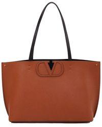 Valentino Kleiner Shopper 'V-Logo' Cognac - Braun
