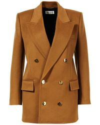 Saint Laurent Blazer 'Long Jacket Double B' Camel - Braun