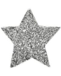 Carolina Bucci Sternenförmiger Ohrstecker 'Superstellar' 18K Weißgold - Mehrfarbig
